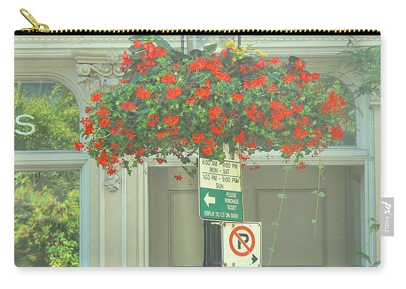 Carry-all Pouch featuring the photograph No Parking by Ian MacDonald