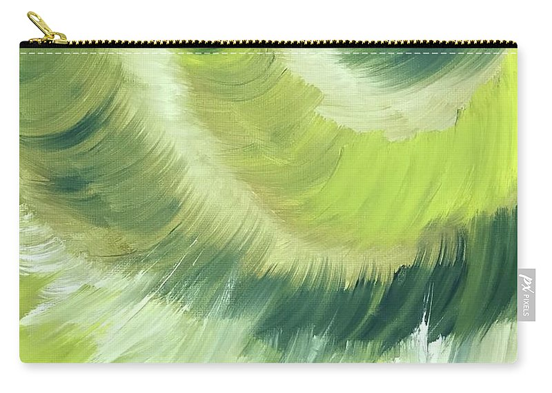 Abstract Carry-all Pouch featuring the painting No Strings Attached by Sheila Mashaw