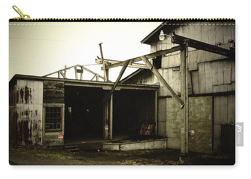 Warehouse Carry-all Pouch featuring the photograph No Trespassing by Tim Nyberg