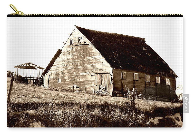 Barn Carry-all Pouch featuring the digital art No Use by Julie Hamilton