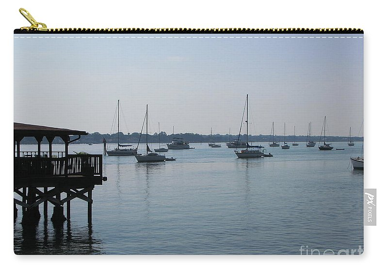 Art For The Wall...patzer Photography Carry-all Pouch featuring the photograph No Wind by Greg Patzer