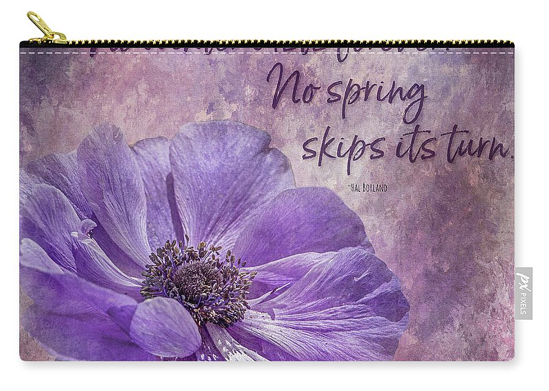 Tl Wilson Photography Carry-all Pouch featuring the photograph No Winter Lasts Forever by Teresa Wilson