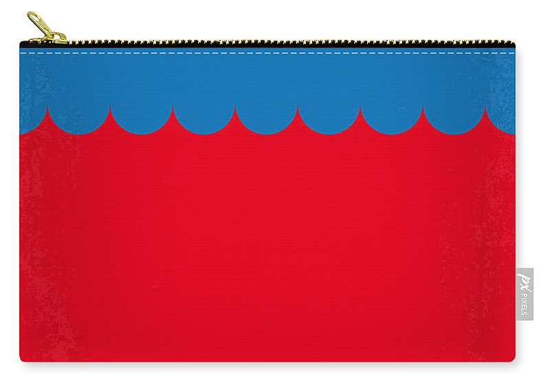 Jaws Carry-all Pouch featuring the digital art No046 My Jaws Minimal Movie Poster by Chungkong Art