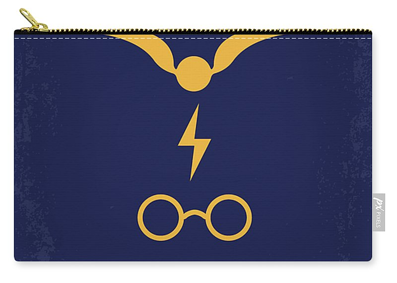 Harry Carry-all Pouch featuring the digital art No101 My Harry Potter Minimal Movie Poster by Chungkong Art