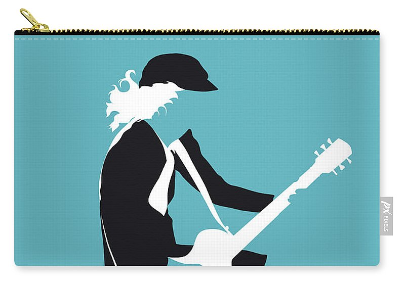 Acdc Carry-all Pouch featuring the digital art No125 My Acdc Minimal Music Poster by Chungkong Art