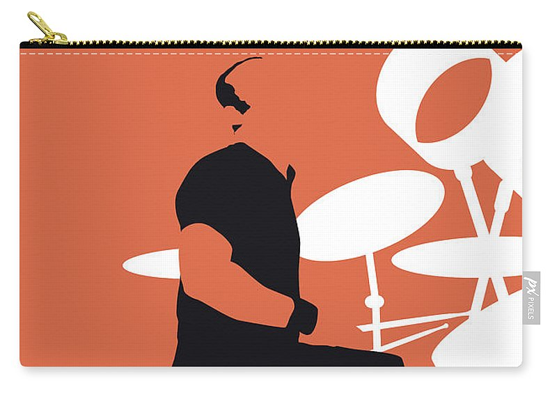 Phil Carry-all Pouch featuring the digital art No163 My Phil Collins Minimal Music Poster by Chungkong Art