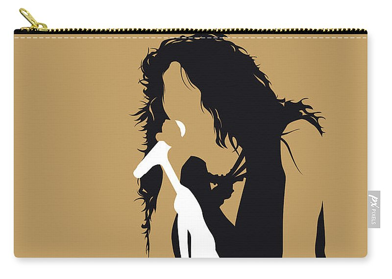 Aerosmith Carry-all Pouch featuring the digital art No200 My Aerosmith Minimal Music Poster by Chungkong Art
