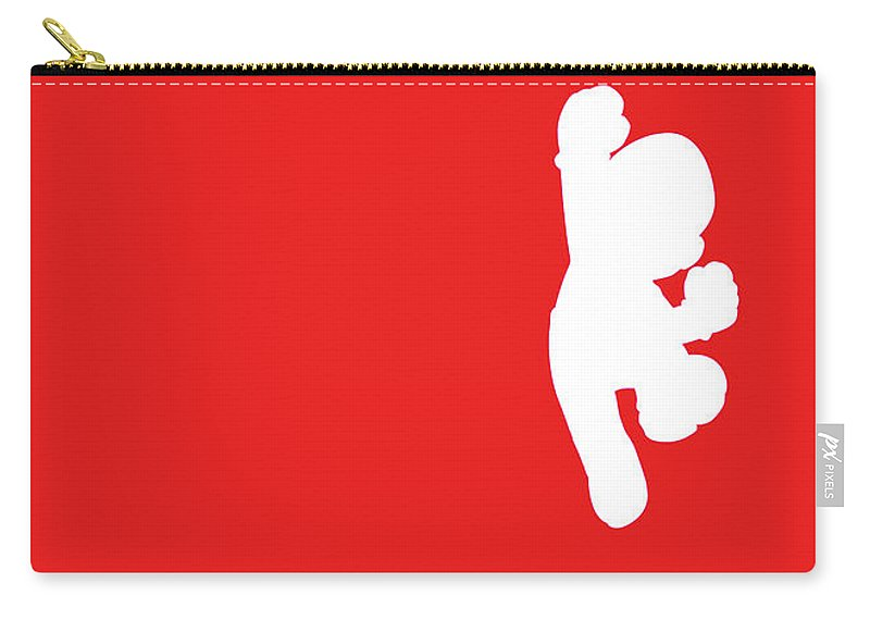 Mario Carry-all Pouch featuring the digital art No33 My Minimal Color Code poster Mario by Chungkong Art