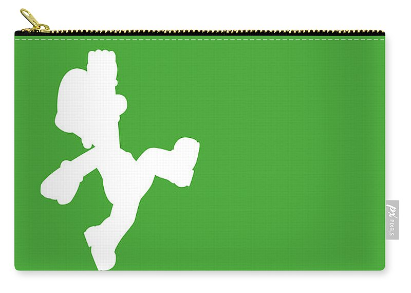 Mario Carry-all Pouch featuring the digital art No34 My Minimal Color Code poster Luigi by Chungkong Art