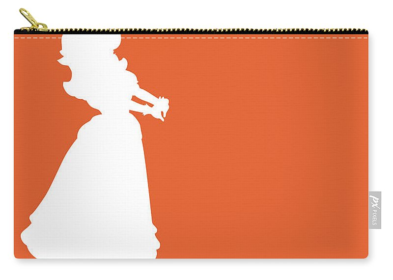 Mario Carry-all Pouch featuring the digital art No35 My Minimal Color Code poster Princess Daisy by Chungkong Art