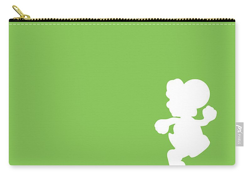 Mario Carry-all Pouch featuring the digital art No36 My Minimal Color Code poster Yoshi by Chungkong Art