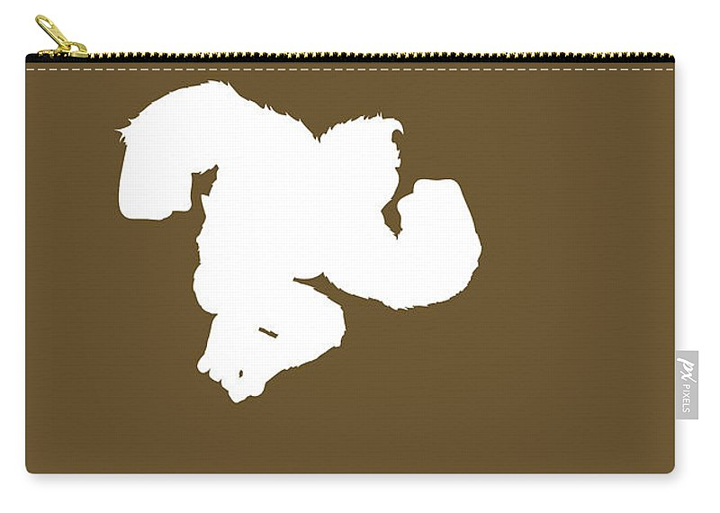 Mario Carry-all Pouch featuring the digital art No37 My Minimal Color Code poster Donkey Kong by Chungkong Art