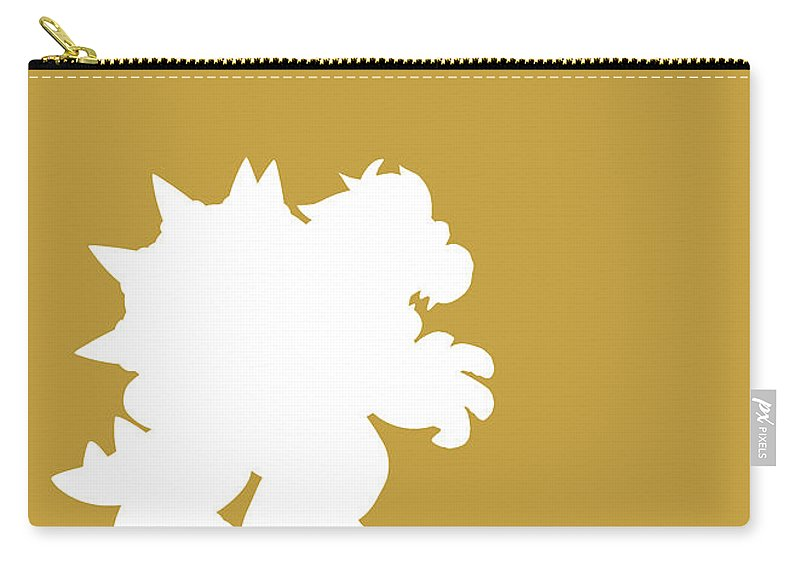 Mario Carry-all Pouch featuring the digital art No38 My Minimal Color Code poster Bowser by Chungkong Art