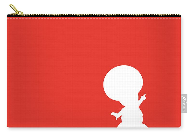 Mario Carry-all Pouch featuring the digital art No41 My Minimal Color Code poster Toad by Chungkong Art
