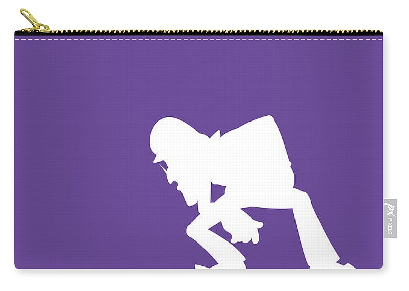 Mario Carry-all Pouch featuring the digital art No42 My Minimal Color Code poster Waluigi by Chungkong Art