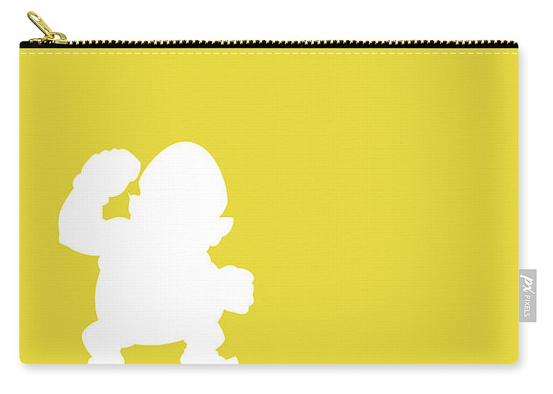 Mario Carry-all Pouch featuring the digital art No43 My Minimal Color Code poster Wario by Chungkong Art