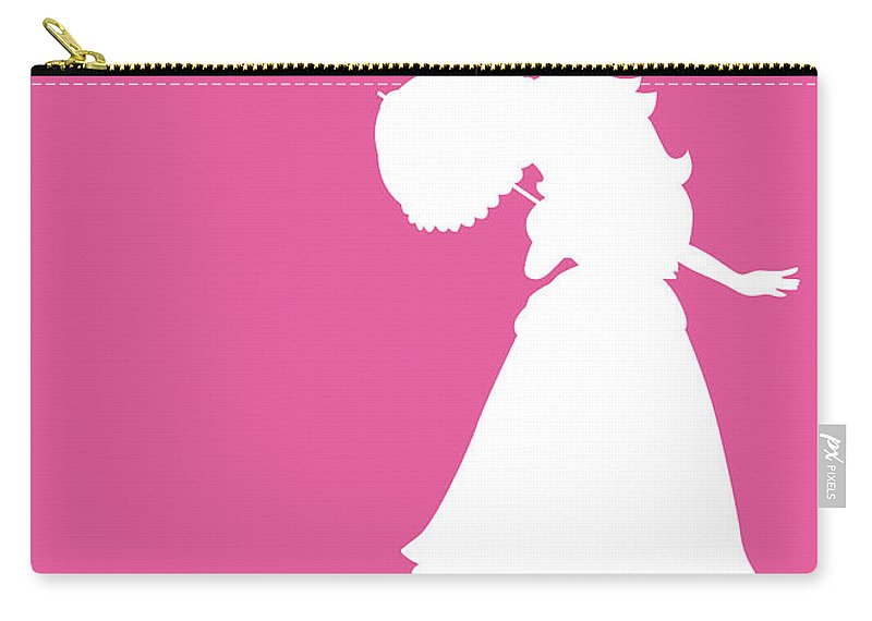 Mario Carry-all Pouch featuring the digital art No44 My Minimal Color Code poster Peach by Chungkong Art