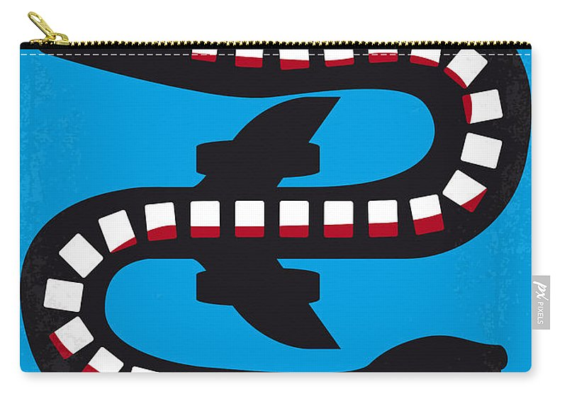 Snakes Carry-all Pouch featuring the digital art No501 My Snakes On A Plane Minimal Movie Poster by Chungkong Art