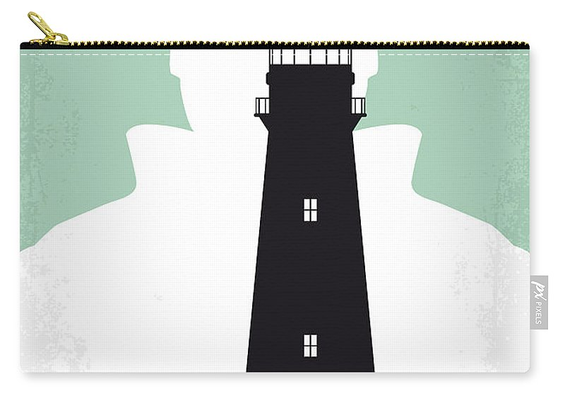 Shutter Carry-all Pouch featuring the digital art No513 My Shutter Island Minimal Movie Poster by Chungkong Art