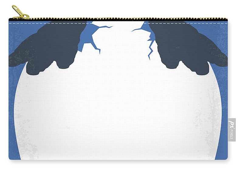 Happy Carry-all Pouch featuring the digital art No744 My Happy Feet Minimal Movie Poster by Chungkong Art