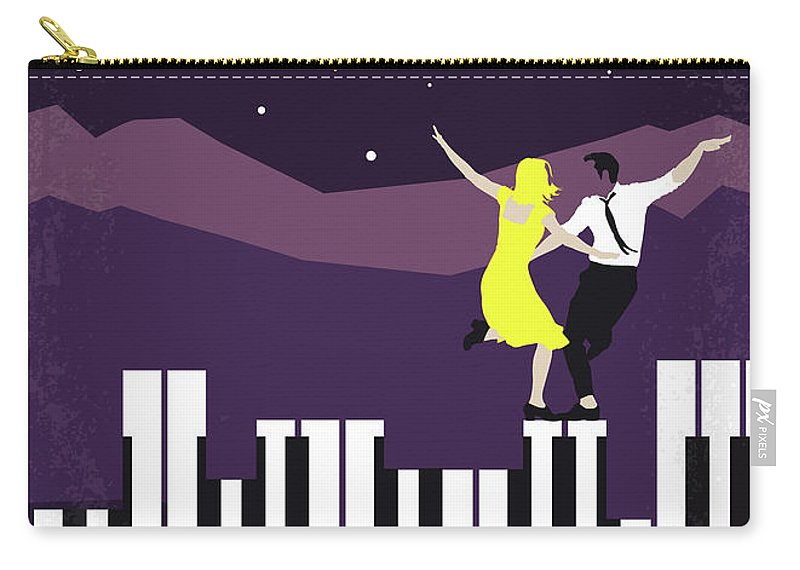 La Carry-all Pouch featuring the digital art No756 My La La Land Minimal Movie Poster by Chungkong Art