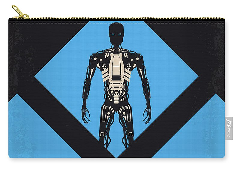 Terminator Carry-all Pouch featuring the digital art No802-4 My The Terminator 4 Minimal Movie Poster by Chungkong Art
