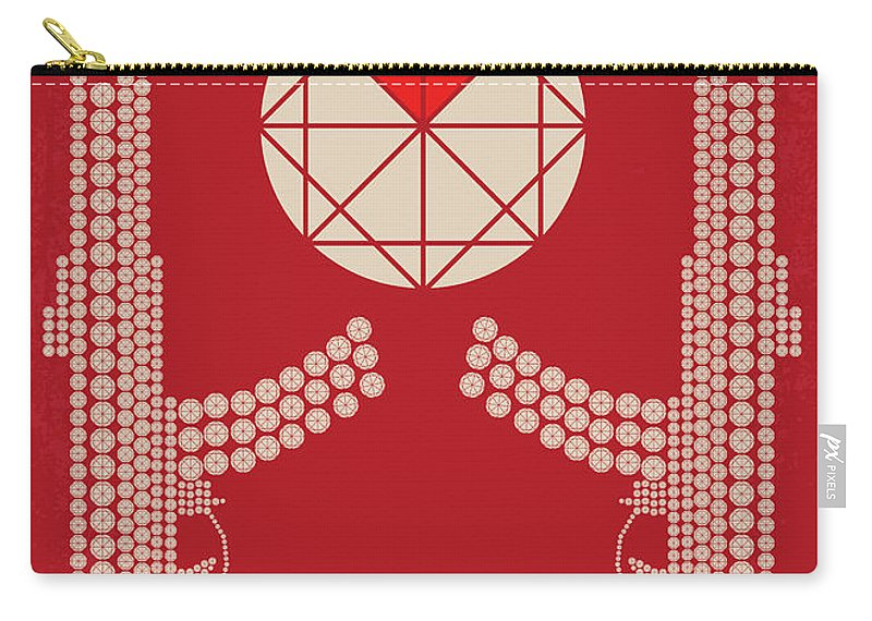 Blood Carry-all Pouch featuring the digital art No833 My Blood Diamond Minimal Movie Poster by Chungkong Art