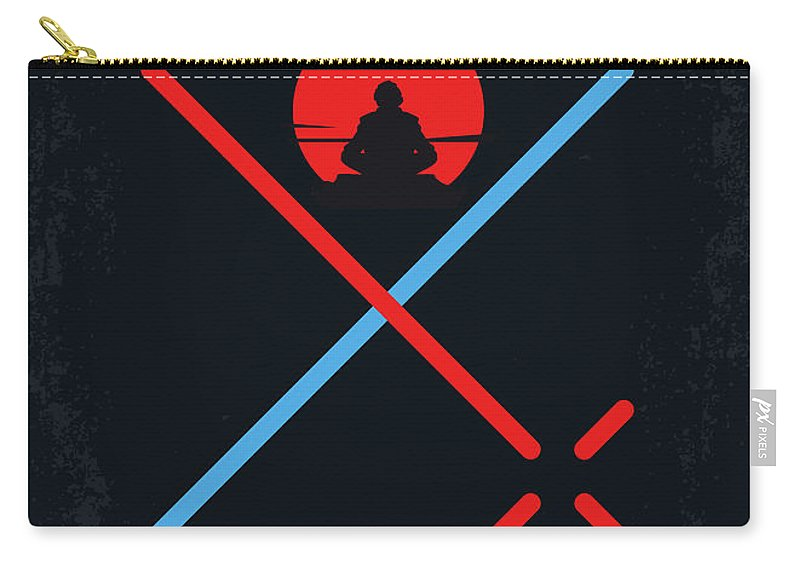 Star Carry-all Pouch featuring the digital art No940 My Star Wars Episode Viii The Last Jedi Minimal Movie Poster by Chungkong Art