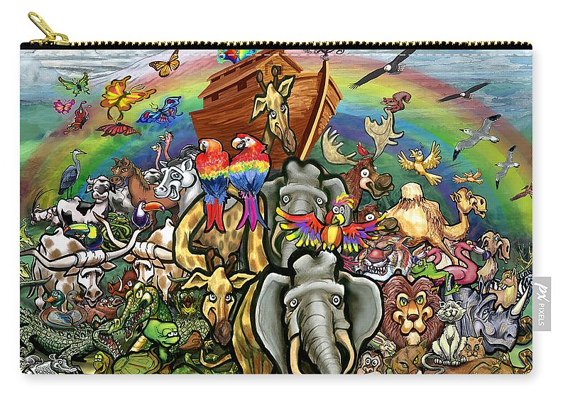 Noah's Ark Carry-all Pouch featuring the painting Noah's Ark by Kevin Middleton