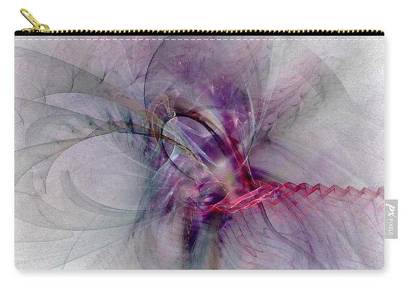 Spiritual Carry-all Pouch featuring the digital art Nobility Of Spirit - Fractal Art by NirvanaBlues