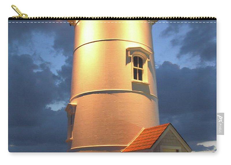 Nobska Point Lighthouse Carry-all Pouch featuring the photograph Nobska Point Lighthouse by Roupen Baker