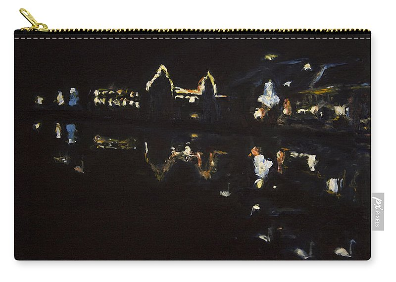 Landscape Carry-all Pouch featuring the painting Nocni Vyhled S Labutemi by Pablo de Choros