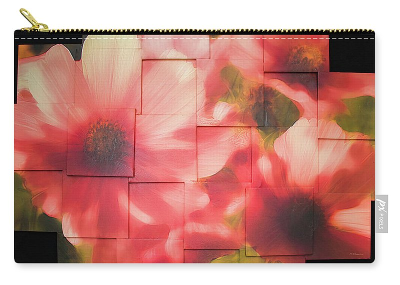 Flower Carry-all Pouch featuring the sculpture Nocturnal Pinks Photo Sculpture by Michael Bessler