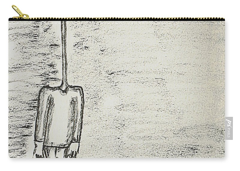 Figure Carry-all Pouch featuring the drawing Nod by Mario MJ Perron