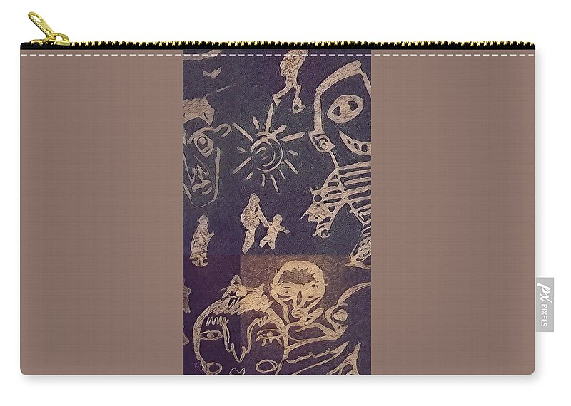 Carry-all Pouch featuring the drawing Noise. by Brittni Bailie