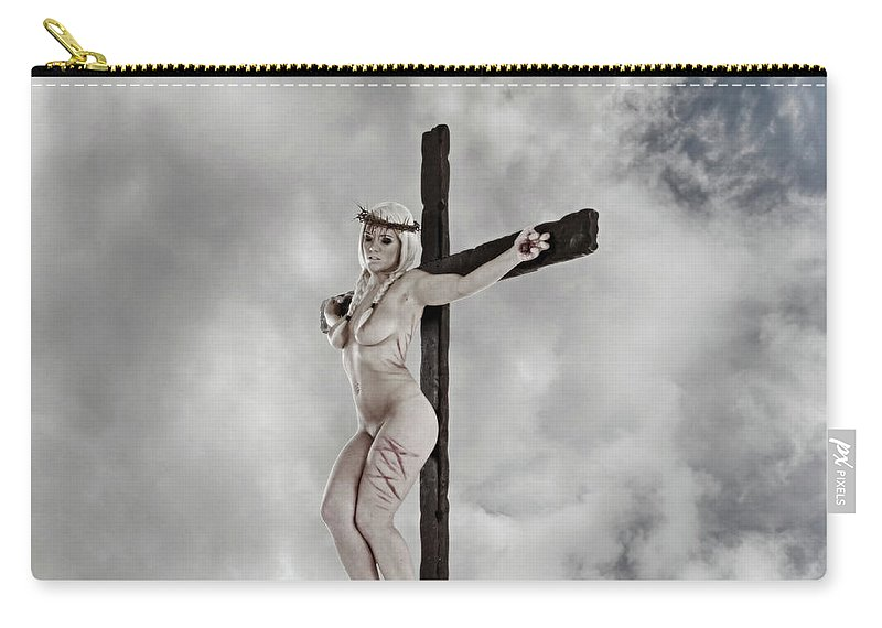 Female Jesus Carry-all Pouch featuring the photograph Nordic Female Jesus by Ramon Martinez