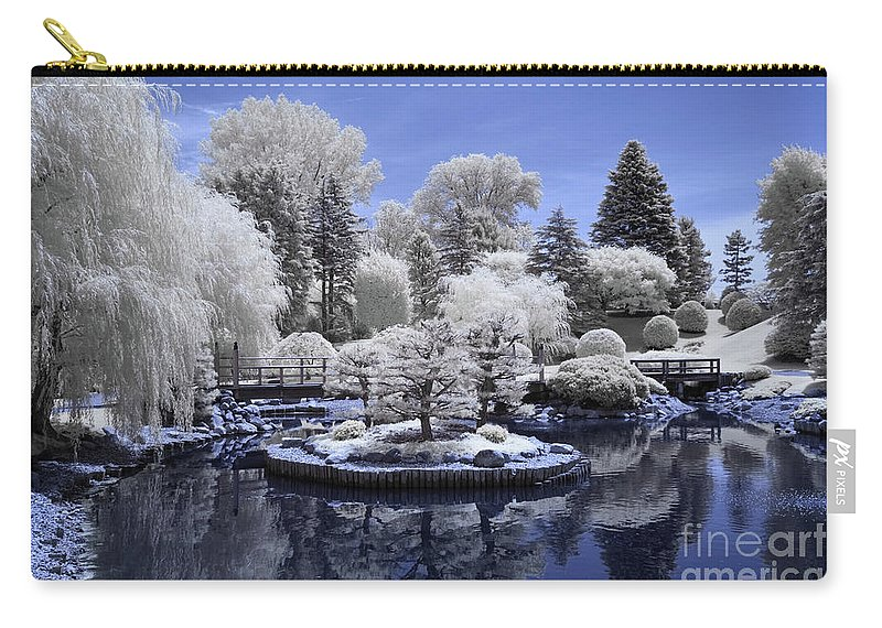 Bloomington Carry-all Pouch featuring the photograph Normandale Japanese Garden by Craig Hinton