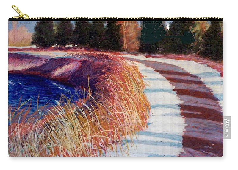 Pastel Carry-all Pouch featuring the painting North Bend New Year by Mary McInnis
