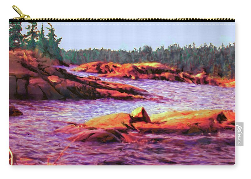 Wilderness Carry-all Pouch featuring the digital art North Channel Islands by Ian MacDonald