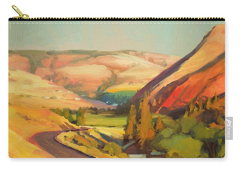 Country Carry-all Pouch featuring the painting North Fork Touchet by Steve Henderson