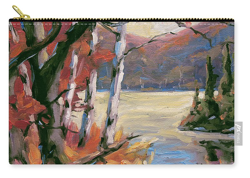 Art Carry-all Pouch featuring the painting North Lake By Prankearts by Richard T Pranke