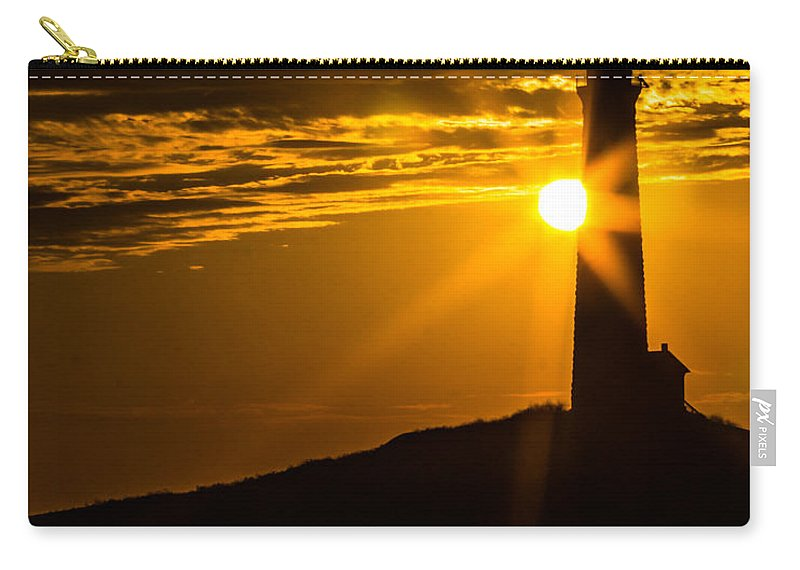 Lighthouse Carry-all Pouch featuring the photograph North Light Sunflare by Tim Kirchoff