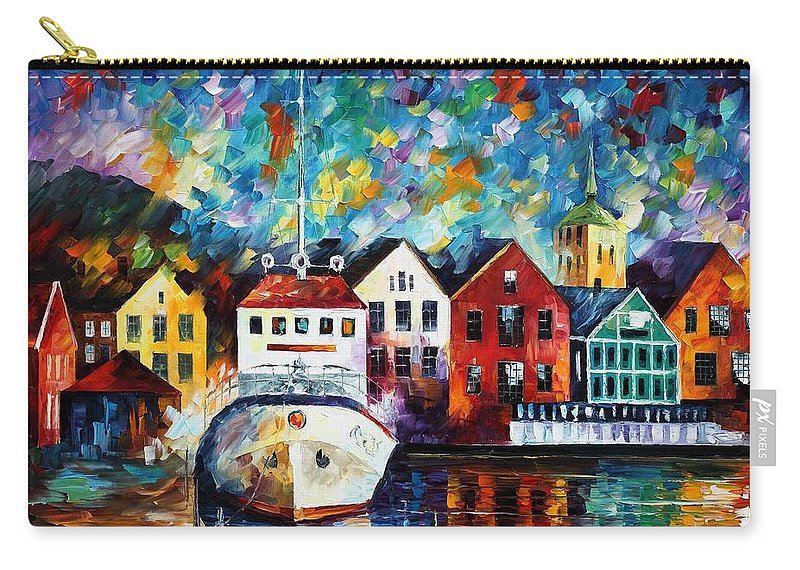 Afremov Carry-all Pouch featuring the painting North Mood by Leonid Afremov