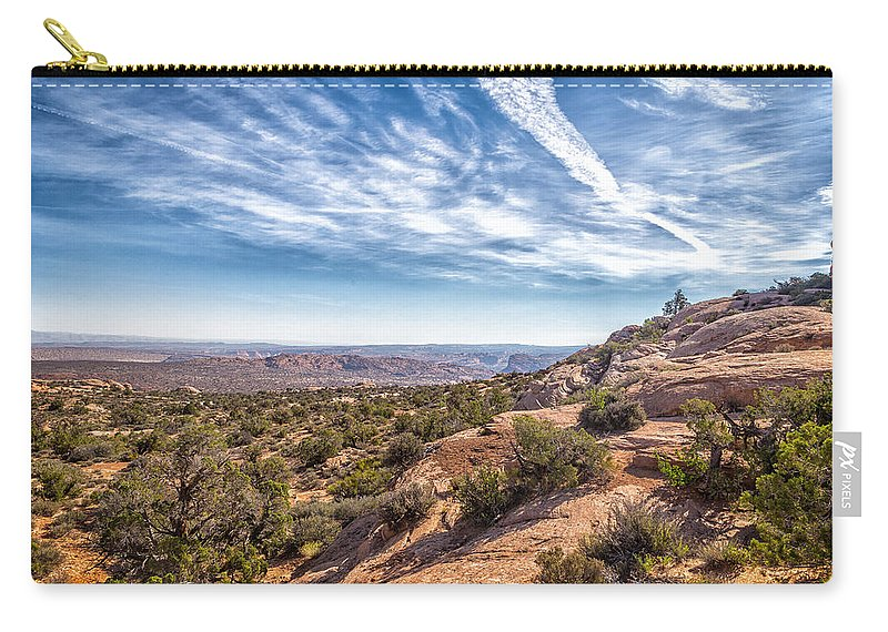 Sky Carry-all Pouch featuring the photograph North Of Moab by Gestalt Imagery