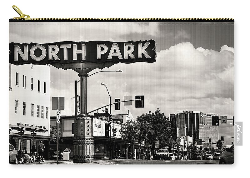 North Park Carry-all Pouch featuring the photograph North Park San Diego by Art Wager