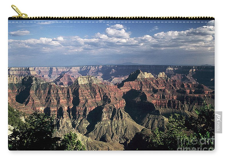 Grand Canyon; National Parks Carry-all Pouch featuring the photograph North Rim by Kathy McClure