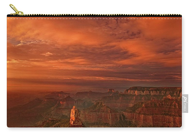 Dave Welling Carry-all Pouch featuring the photograph North Rim Storm Clouds Grand Canyon National Park Arizona by Dave Welling