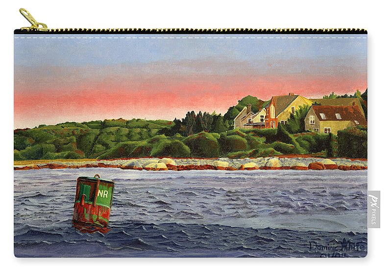 River Carry-all Pouch featuring the painting North River At Sunset by Dominic White