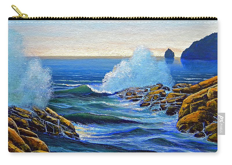 Ocean Carry-all Pouch featuring the painting North Shore by Frank Wilson