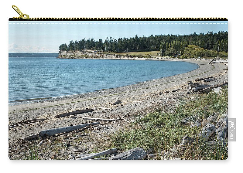 North Shore Of Penn Cove Carry-all Pouch featuring the photograph North Shore Of Penn Cove by Tom Cochran
